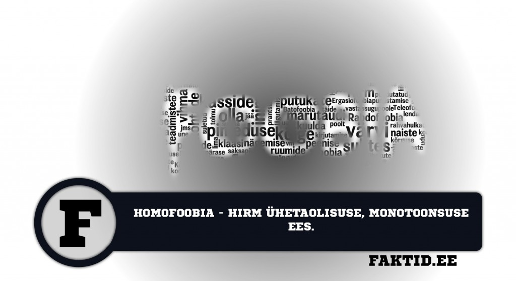 HOMOFOOBIA   HIRM ÜHETAOLISUSE, MONOTOONSUSE EES foobia 207 1024x558