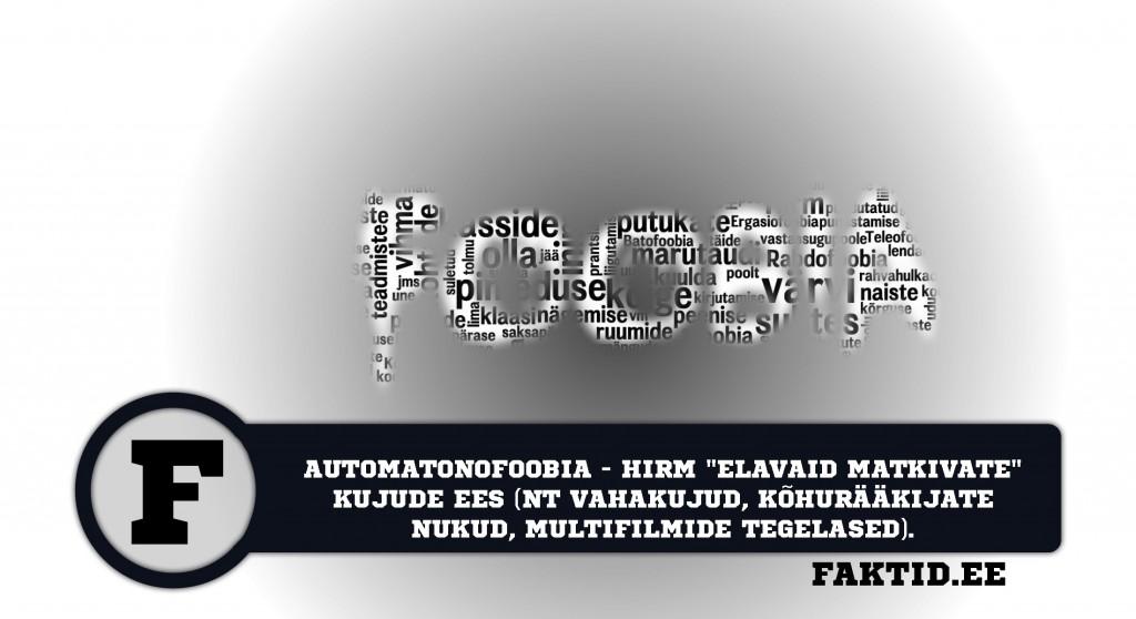 AUTOMATONOFOOBIA   HIRM ELAVAID MATKIVATE KUJUDE EES (NT. VAHAKUJUD, KÕHURÄÄKIJATE NUKUD, MULTIFILMIDE TEGELASED) foobia 63 1024x558