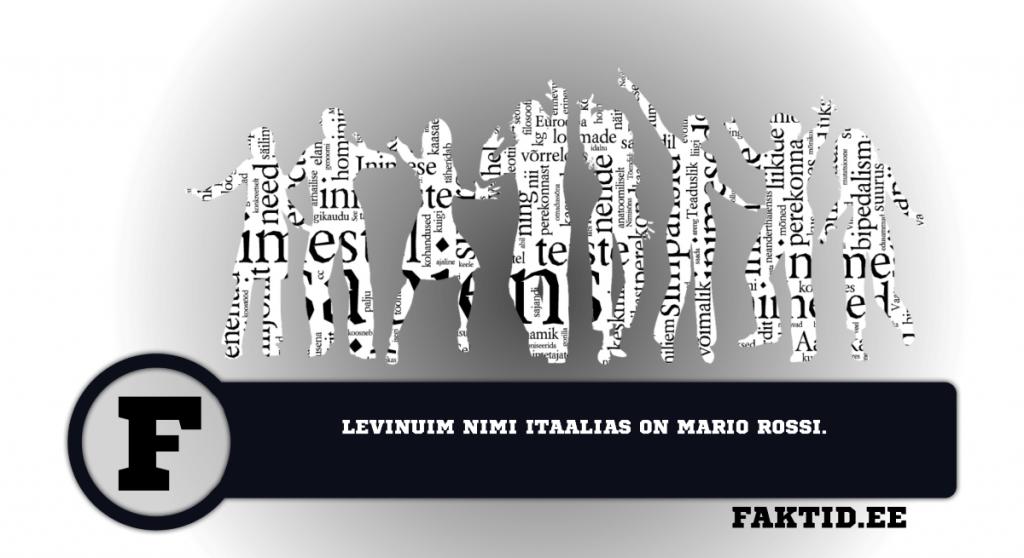 LEVINUM NIMI ITAALIAS ON MARIO ROSSI. inimene 41 1024x558