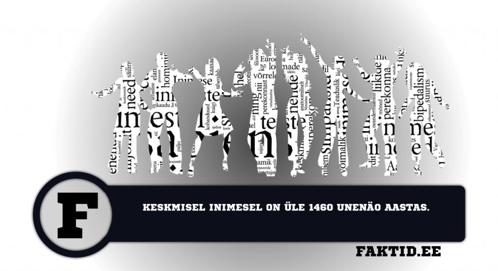 KESKMISEL INIMESEL ON ÜLE 1460 UNENÖO AASTAS. inimene 51 1024x558
