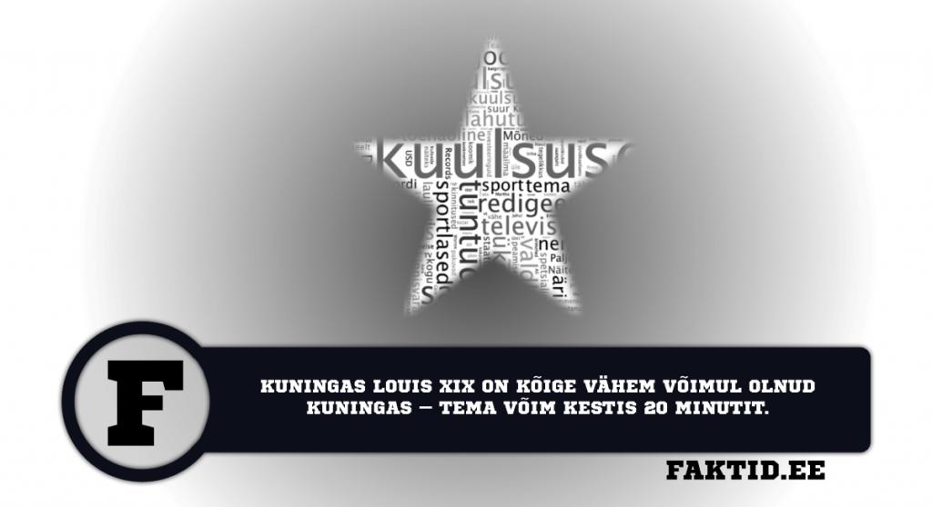 KUNINGAS LOUIS XIX ON KÕIGE VÄHEM VÕIMUL OLNUD KUNINGAS – TEMA VÕIM KESTIS 20 MINUTIT. kuulsused 37 1024x558