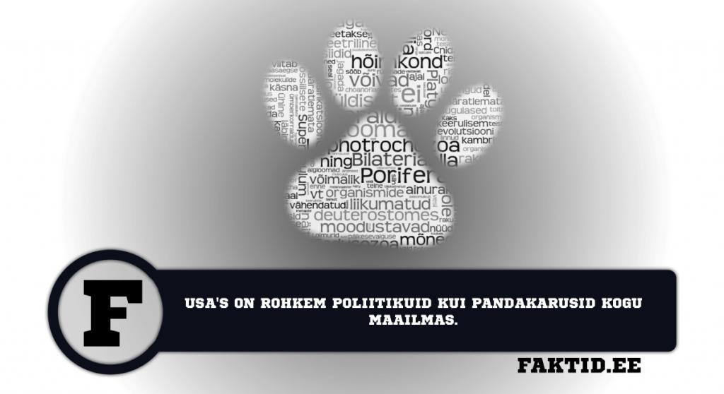 USAS ON ROHKEM POLIITIKUID KUI PANDAKARUSID KOGU MAAILMAS. loomad 47 1024x558