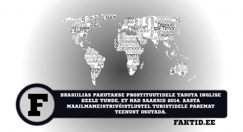 BRASIILIAS PAKUTAKSE PROSTITUUTIDELE TASUTA INGLISE KEELE TUNDE, ET NAD SAAKSID 2014. AASTA MAAILMAMEISTRIVÕISTLUSTEL TURISTIDELE PAREMAT TEENUST OSUTADA. riigid 1 1024x558