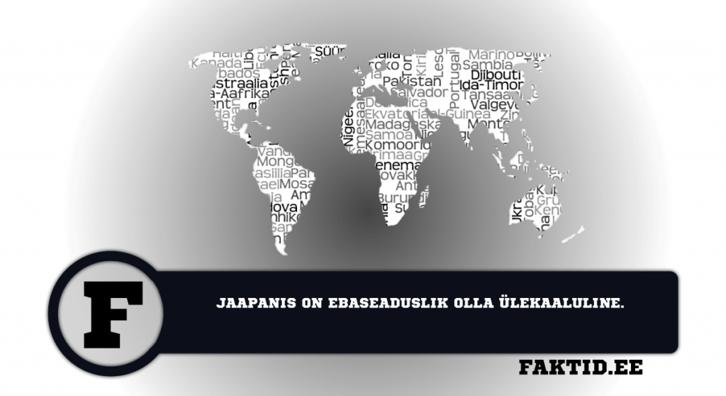 JAAPANIS ON EBASEADUSLIK OLLA ÜLEKAALULINE. riigid 21 1024x558