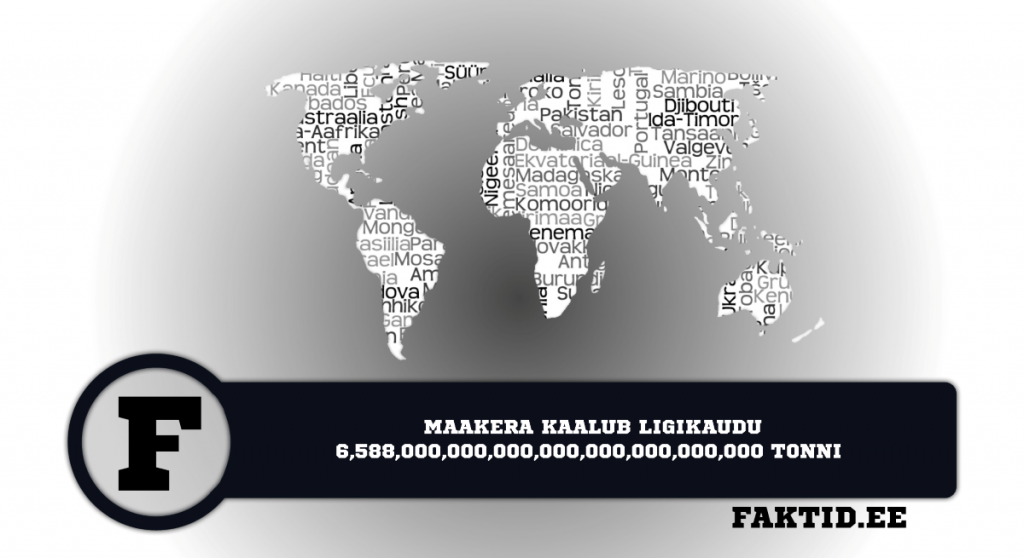 MAAKERA KAALUB LIGIKAUDU 6 588 000 000 000 000 000 000 000 000 TONNI. riigid 28 1024x558