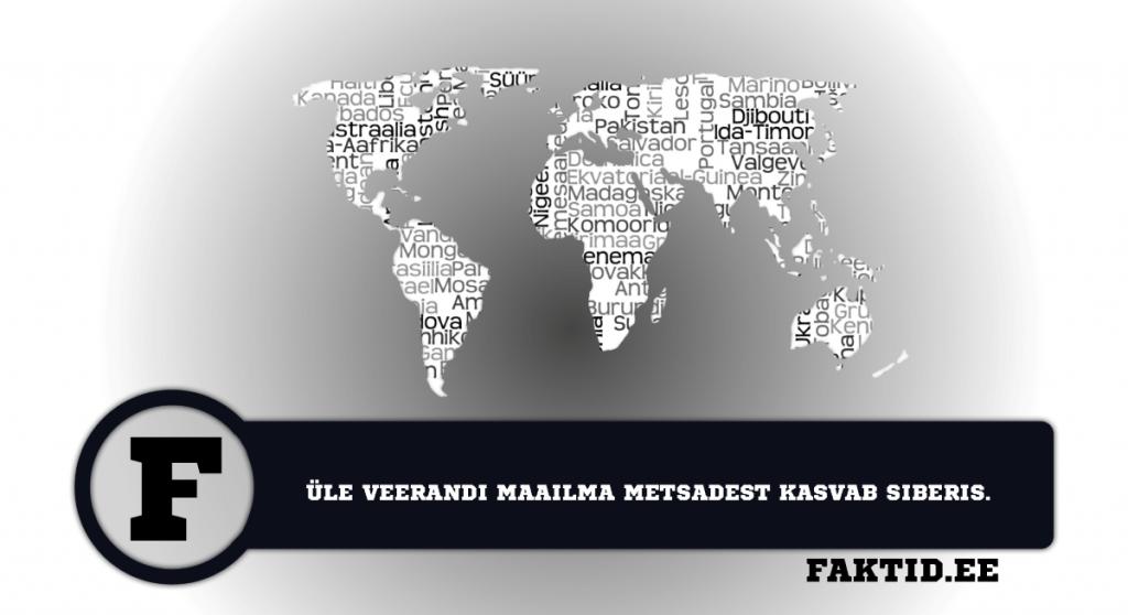 ÜLE VEERANDI MAAILMA METSADEST ASUVAD SIBERIS. riigid 30 1024x558
