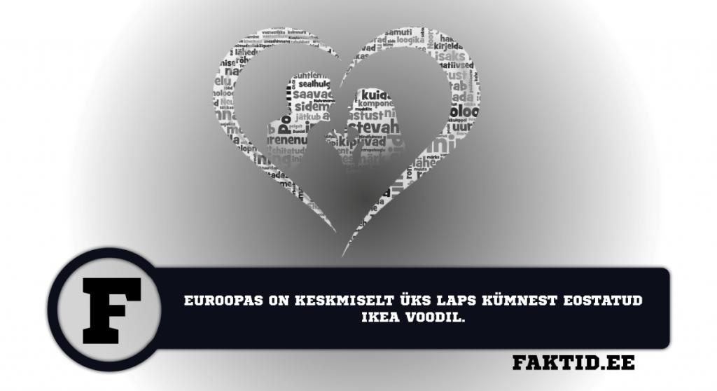 EUROOPAS ON KESKMISELT ÜKS LAPS KÜMNEST EOSTATUD IKEA VOODIL. suhted 5 1024x558