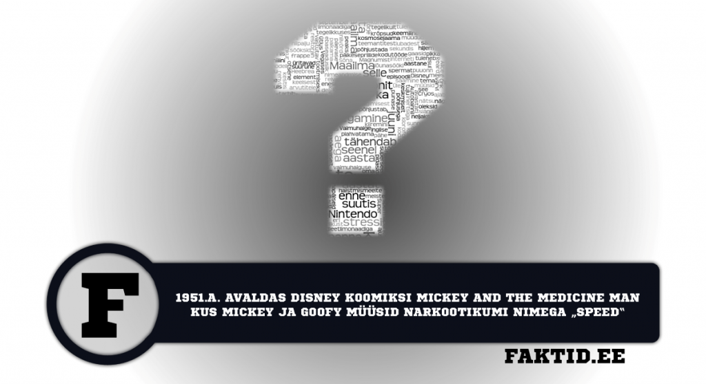 1951.A. AVALDAS DISNEY KOOMIKSI MICKEY AND THE MEDICINE MAN KUS MICKEY JA GOOFY MÜÜSID NARKOOTIKUMI NIMEGA SPEED. varia 16 1024x558