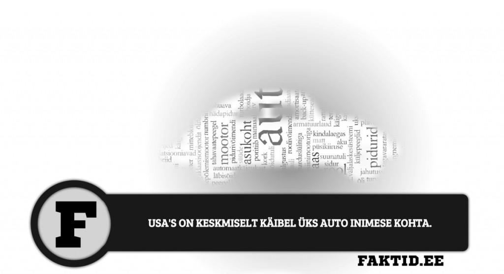 USAS ON KESKMISELT KÄIBEL ÜKS AUTO INIMESE KOHTA. autod 36 1024x558