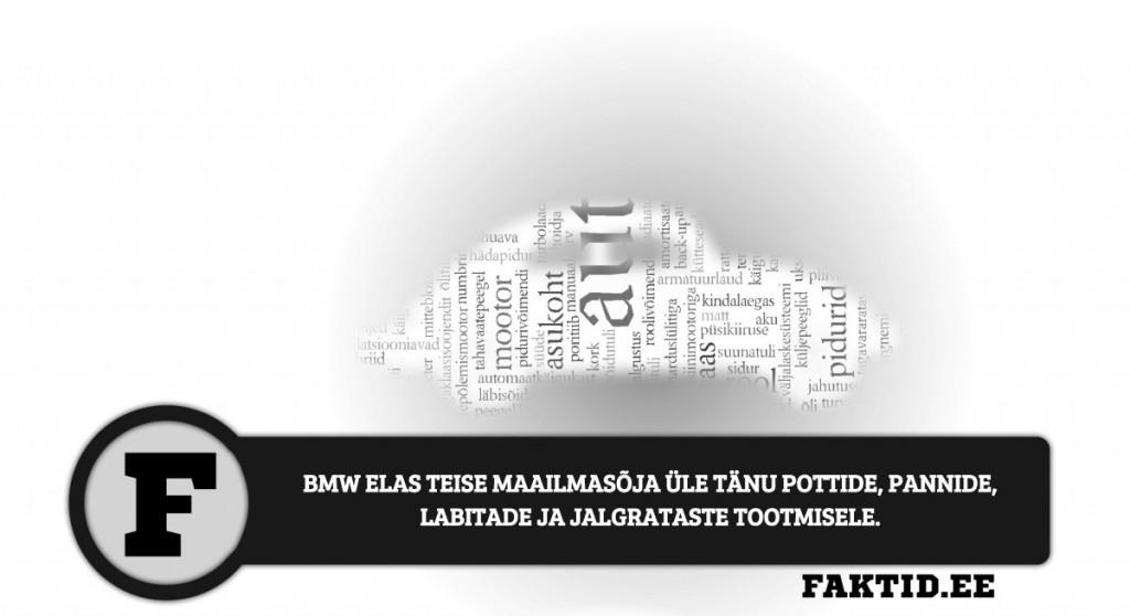 BMW ELAS TEISE MAAILMASÕJA ÜLE TÄNU POTTIDE, PANNIDE, LABITADE JA JALGRATASTE TOOTMISELE. autod 43 1024x558