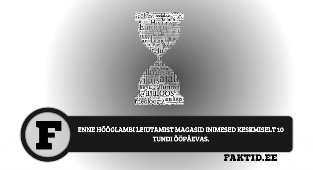ENNE HÕÕGLAMBI LEIUTAMIST MAGASID INIMESED KESKMISELT 10 TUNDI ÖÖPÄEVAS. ajalugu 27 1024x558
