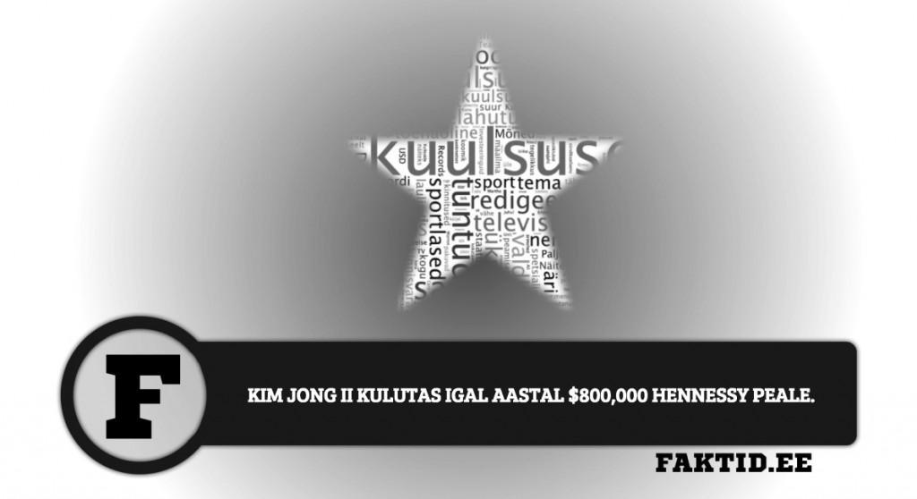 KIM JONG II KULUTAS IGAL AASTAL $800,000 HENNESSY PEALE kuulsused 54 1024x558