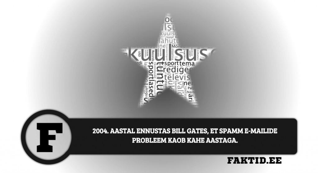 2004. AASTAL ENNUSTAS BILL GATES, ET SPAMM E MAILIDE PROBLEEM KAOB KAHE AASTAGA. kuulsused 84 1024x558