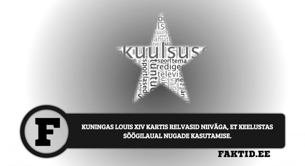 KUNINGAS LOUIS XIV KARTIS RELVASID NIIVÄGA, ET KEELUSTAS SÖÖGILAUAL NUGADE KASUTAMISE kuulsused 98 1024x558