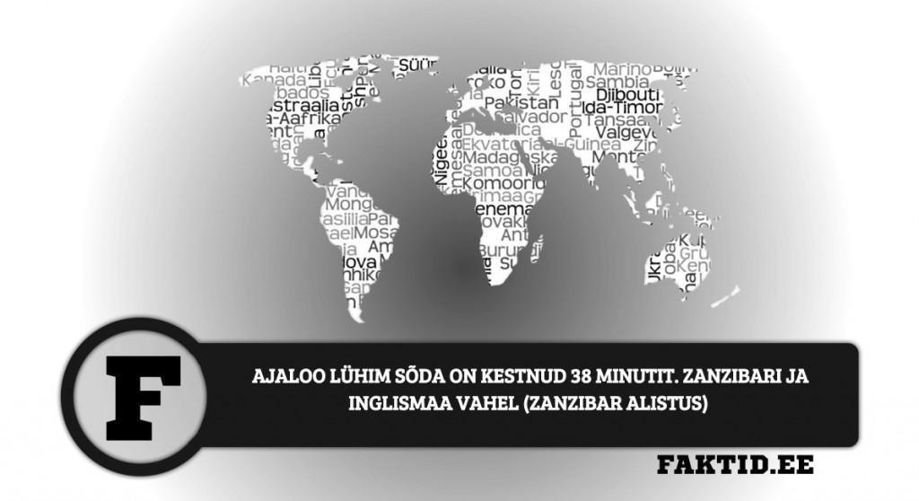 AJALOO LÜHIM SÕDA ON KESTNUD 38 MINUTIT. ZANZIBARI JA INGLISMAA VAHEL (ZANZIBAR ALISTUS)  riigid 47 1024x558