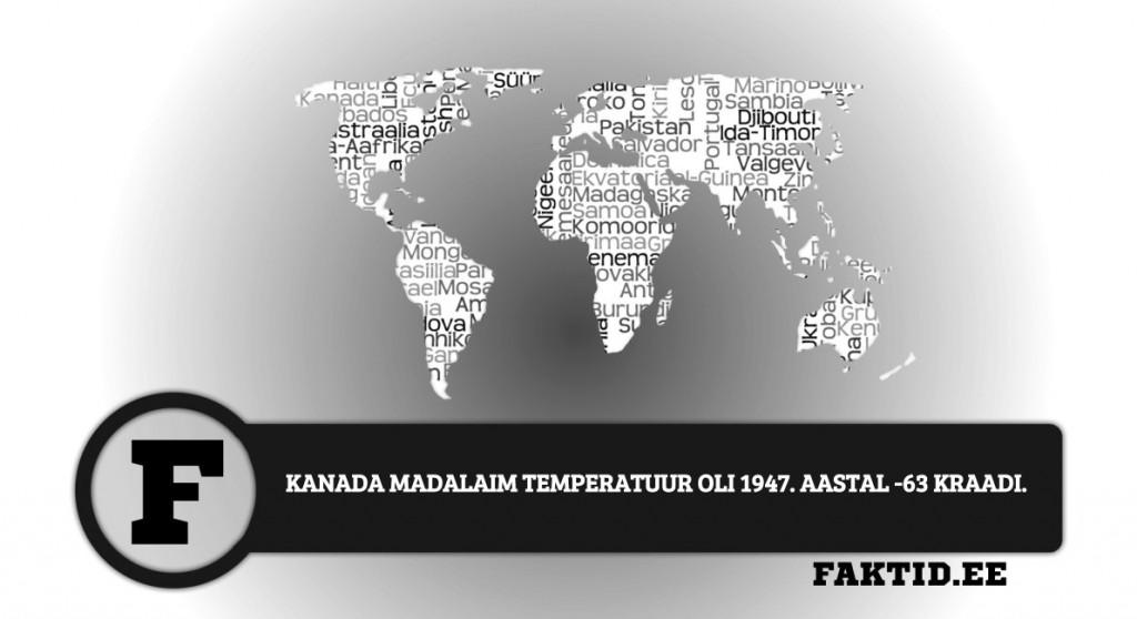 KANADA MADALAIM TEMPERATUUR OLI 1947. AASTAL  63 KRAADI riigid 58 1024x558