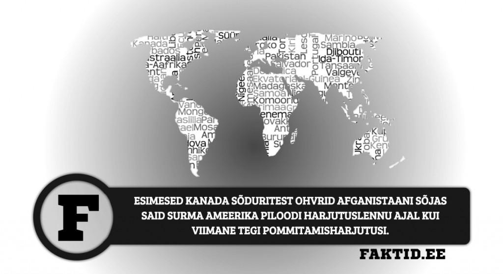 ESIMESED KANADA SÕDURITEST OHVRID AFGANISTAANI SÕJAS SAID SURMA AMEERIKA PILOODI HARJUTUSLENNU AJAL KUI VIIMANE TEGI POMMITAMISHARJUTUSI riigid 63 1024x558