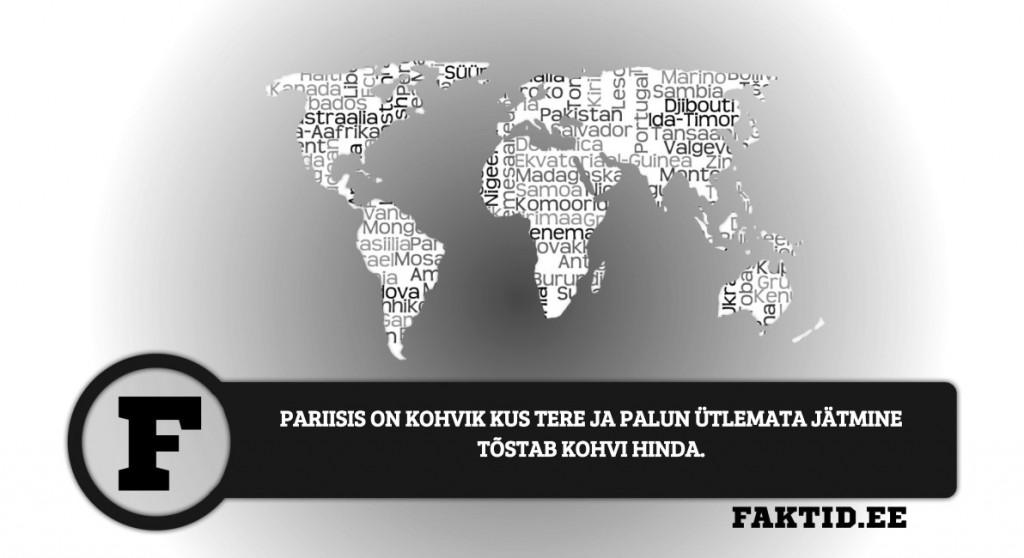 PARIISIS ON KOHVIK KUS TERE JA PALUN ÜTLEMATA JÄTMINE TÕSTAB KOHVI HINDA. riigid 74 1024x558