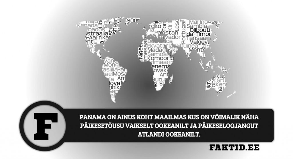 PANAMA ON AINUS KOHT MAAILMAS KUS ON VÕIMALIK NÄHA PÄIKESETÕUSU VAIKSELT OOKEANILT JA PÄIKESELOOJANGUT ATLANDI OOKEANILT riigid 92 1024x558