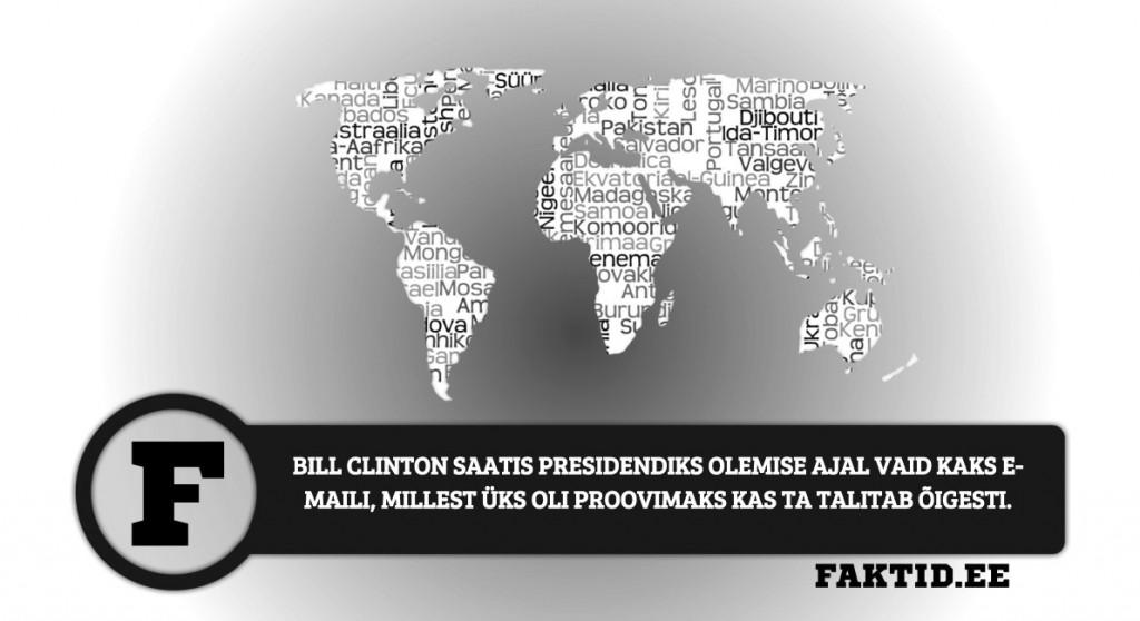 BILL CLINTON SAATIS PRESIDENDIKS OLEMISE AJAL VAID KAKS E MAILI, MILLEST ÜKS OLI PROOVIMAKS KAS TA TALITAB ÕIGESTI riigid 96 1024x558