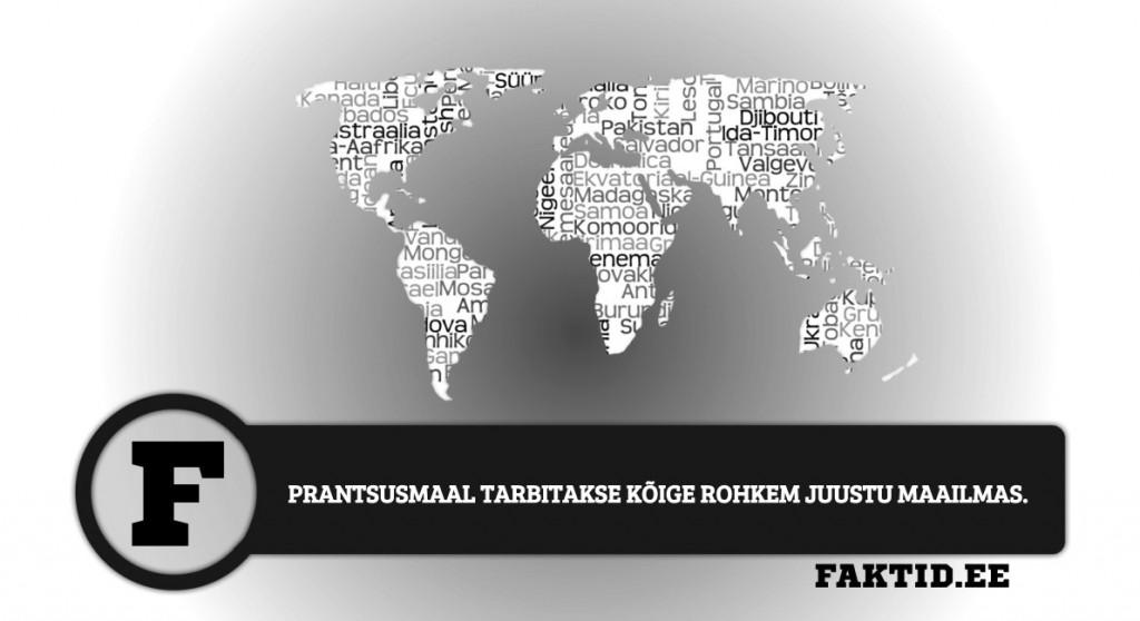 PRANTSUSMAAL TARBITAKSE KÕIGE ROHKEM JUUSTU MAAILMAS riigid 99 1024x558