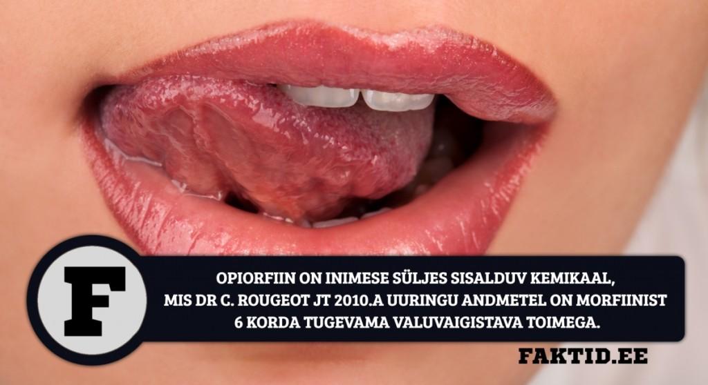 OPIORFIIN ON INIMESE SÜLJES SISALDUV KEMIKAAL, MIS DR C. ROUGEOT JT 2010.A UURINGU ANDMETEL ON MORFIINIST 6 KORDA TUGEVAMA VALUVAIGISTAVA TOIMEGA. Opiorfiin 1024x558