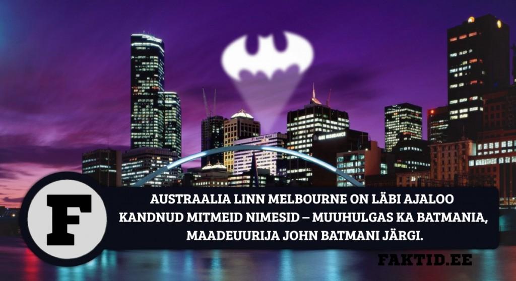 AUSTRAALIA LINN MELBOURNE ON LÄBI AJALOO KANDNUD MITMEID NIMESID – MUUHULGAS KA BATMANIA, MAADEUURIJA JOHN BATMANI JÄRGI. melbourne australia 1024x558